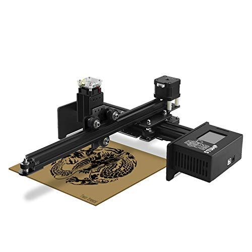 TWOTREES Stump Laser Mini CNC Laser Máquina de grabado de un solo brazo, impresión 3D DIY Engraver Escritorio de madera, router/cúter/impresora