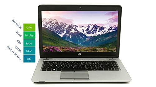 HP Elitebook 840 G2 35.56 cm 14 Inch WXGA | Powerful Laptop | Intel Core i5 2x 2.2GHz 8GB RAM 512 GB SSD Win 10 Home Keyboard DE Intel HD Graphics 5500 | 1.71 kg Black / Silver (Refurbished)