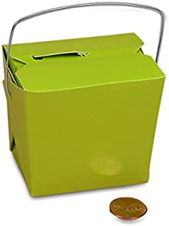 Lime Green Paper Chinese Take Out Boxes 4