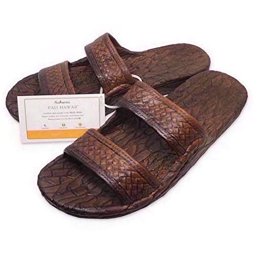 Pali Hawaii Light Brown JANDAL + Certificate of Authenticity (7)