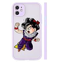 Anime Dragon Ball Gohan電話ケースiPhone 7/8 7/8 Plus XR X/XS XS MAX、ソフトTPUカバー耐衝撃基本ケース統合カメラレンズカバー violet-7/8