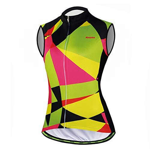 Aogda Cycling Vests Jerseys Women Bike Shirts Sleeveless Clothing Ladies Biking Shorts Bicycle Tights (0032A, Medium)