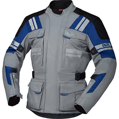 IXS Motorradjacke mit Protektoren Motorrad Jacke Blade-ST 2.0 Tour Textiljacke grau/blau/schwarz XXL, Herren, Tourer, Ganzjährig, Polyester