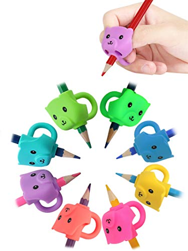 JARLINK 8 Pack Pencil Grips for Kids Handwriting, Ergonomic Writing Training Aid Grip, Correction Finger Grip for Kids, Adults