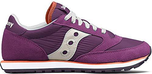 Saucony Originals Women's Jazz Lowpro Sneaker, Purple/White, 5.5 Medium US