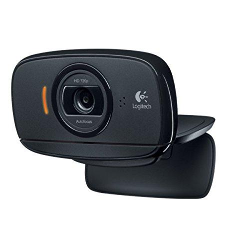 Logitech B525 Business Webcam Portable, HD 720p/30ips, Appel Vidéo HD Large Champ de Vision, Correction et Mise au Point Automatiques, 360°, Skype, Cisco Jabber, Zoom, PC/Mac/Portable/Tablette - Noir
