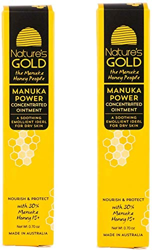 Nature's Gold Manuka Honey Wound Ointment - Honey Gel for Skin and Cuts - Best Moisturizing Honey Ointment - MGO 514+ Natural Antibiotic Honey Cream Perfect for Calming Eczema and Other Skin Damage