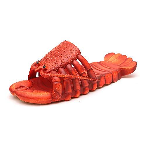 Updayday Pantoufles de Homard Unisexe Chaussures de Plage et de Douche Chaussures Pantoufles Pantoufles d'animaux décontractés de Bande dessinée, pour Hommes Femmes et Enfants