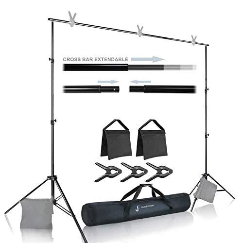 Julius Studio Photo Video Studio 10 ft. Wide Cross Bar 7.3 ft. Tall...