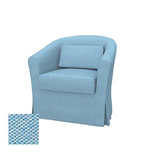 Soferia Fodera Extra Ikea EKTORP TULLSTA Poltrona, Tessuto Nordic Blue