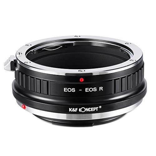 K&F Concept- Adaptador Lentes para Montar Canon EOS EF EF-S a Canon EOS R Camara (EOS-EOS R)