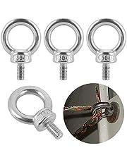 6 stks Lifting Ring Eye Bolt M6* 12mm, 304 RVS Oogbouten, Ring Eye Bolt voor Levend Hijswerk en Diverse Engineering Hefapparatuur (M6x12mm)