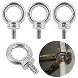 6pcs anello di sollevamento occhio bullone M6 * 12 mm, 304 acciaio inox bullone occhiello, anello occhio bullone per sollevamento vivente e varie attrezzature di sollevamento ingegneria