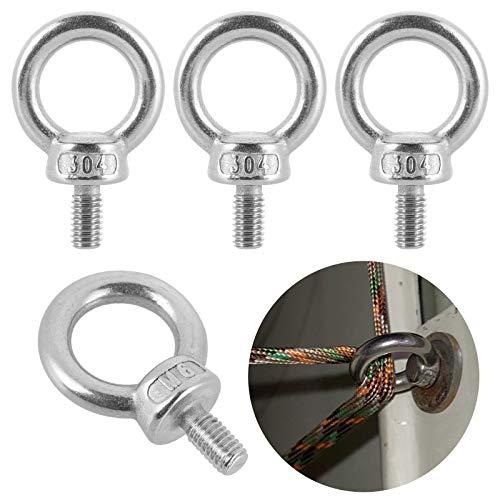 6 PCS Filetage Mâle Anneau ,boulons à œil M6 x 12 mm en acier inoxydable 304 pour levage de vie et divers équipements de levage d'ingénierie
