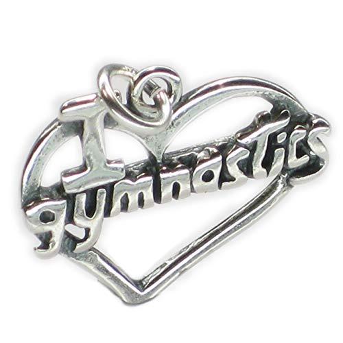 Ich liebe, 925 Gymnastik Sterlingsilber 1 x Turners charms DKC42110