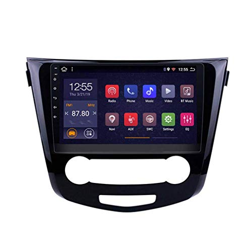 GPS para Coches, Pantalla Táctil De 10 Pulgadas, para Nissan Qashqai X-Trail 2 DIN Car Radio Mp5 Stereo Player/Andnoid 8.1/ WiFi/Mirror Link/Bluetooth/SD/FM, Navegador GPS Coche