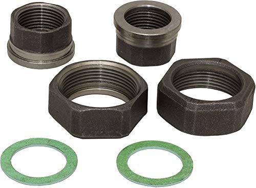 Pumpenverschraubungs-Set aus Temperguss schwarz, DN 25 (1