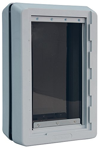 Ideal Pet Products Designer Series Ruff Weather Alarm Alert Pet Door , X-Large 9.75