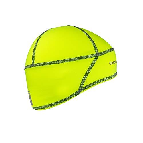 GripGrab Leichte Thermal Unterhelm Mütze Skull Cap, Gelb Hi-Vis, L (60-63 cm)