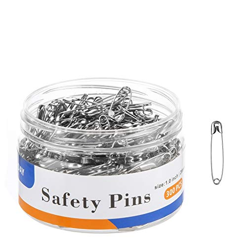 A+DAY Small Safety Pins 1.0 Inch (26mm), Size 0,...