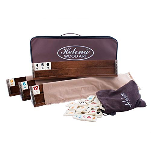 Wooden Oval Rummy Board Game Set