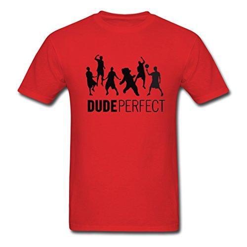 ANABEL 2016 Let's Basketball Dude Perfect Herren's Shirt (Medium)