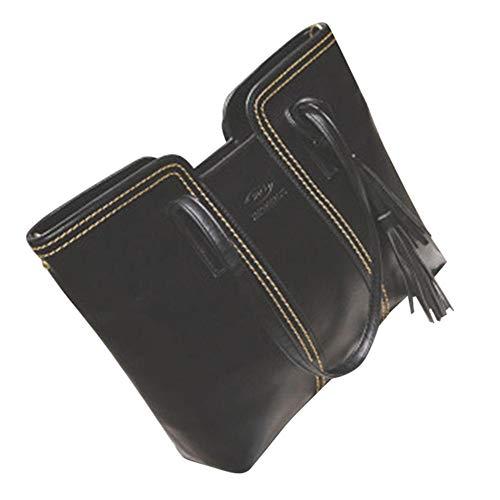 Jituan Moda Mujer Retro Borla Bolso de Hombro Simple Gran Capacidad Multifunción Gap Bag Otoño e Invierno Ligero Casual Bolsas