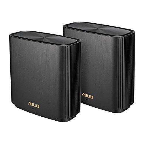 ASUS WiFi 無線 ルーター WiFi6 1201+4804+574Mbps トライバンドメッシュ ZenWiFi AX (XT8) (黒) 2 パック ...