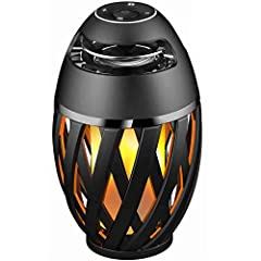 🔥🎵 FLAME ATMOSPHERE OUTDOOR SPEAKER: Upgrade flame speaker has 96 LEDs , which shows more real torch light, others only with 60 LEDS. Increased breathing mode and blinking mode than the first generation light mode. 🔥🎵 2 IN 1 BLUETOOTH SPEAKER WITH DE...