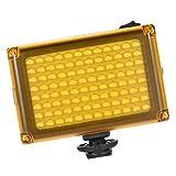 perfk 96 LED Luz de Video, Luz de Estudio, Luz de Cámara con Filtro CT Cálido para Fotografía de Video, Fotografía de Estudio