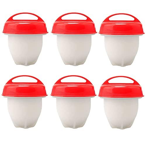 Hervidor de Huevo,6 Pcs Olla de Huevo de Silicona,Molde para Escalfar Huevos,Aparatos de Cocina Duraderos,FáCiles de Limpiar,Sin BPA,Robador de Huevos RáPido,Utilizado para Huevos,Huevos al Vapor