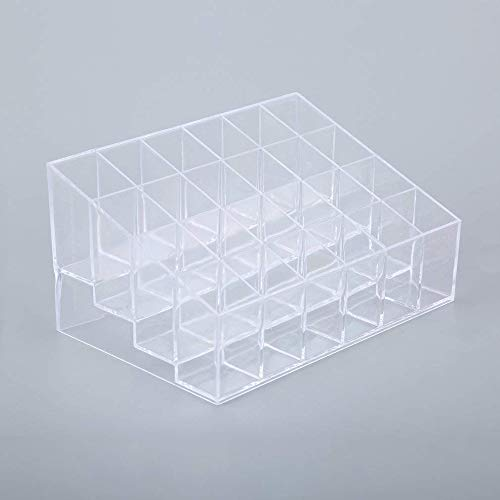 FELAK Transparenter Lippenstift-Organizer, 24 Gitter, für Kosmetik, Make-up, Lotion, Aufbewahrung 5.75