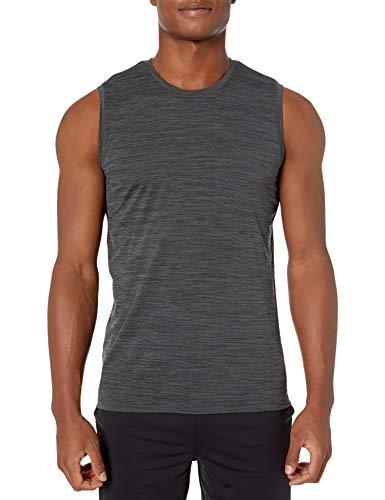 Marca Amazon - Peak Velocity - Camiseta sin mangas para hombre, color negro