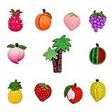 Bascar Juego de slime para decoración de frutas, artesanía, relleno para manualidades, fabricación de slime perfumado, antiestrés, juguetes para niños y adultos, 11 unidades