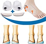 Mcvcoyh Orthopedic Insoles for Correcting O/X Type Leg Shoe Inserts, Built in Magnetic Heel Shoe Cushions for Foot Alignment, Knock Knee Pain, Bow Legs- 2 Pairs