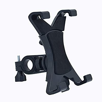 """TEKCAM Tablet Mount Holder for Exercise Bike 360 Degree Rotation Tablet Stand with Silicone Pad for Gym Spin Bicycle Motorcycle Stroller Handlebars Treadmills Fits All 7""""-9.7"""" iPad/Tablet"""