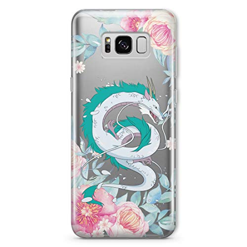 Haku Spirited Away Phone Case Anime for Samsung Galaxy S10e S9 S8 S20 S10 Note 20 10 Plus Ultra Note 9 8 S7 S6 Edge Dragon Kohaku Flower Collection Accessories Gifts Silicone Clear Cover