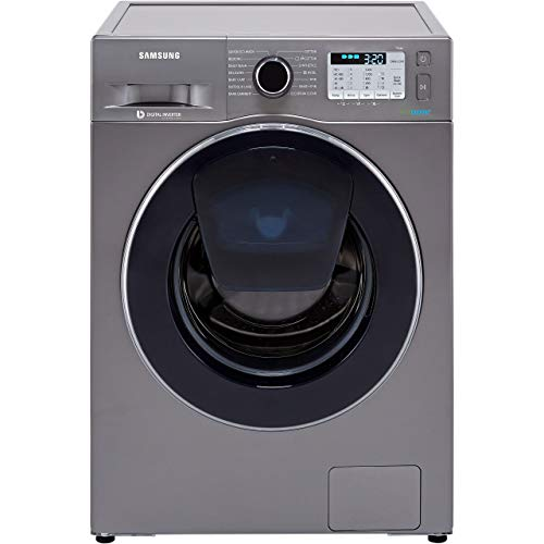 Samsung WW80K5413UX Freestanding Washing Machine with Addwash and Ecobubble, 8kg Load, 1400rpm spin, Graphite
