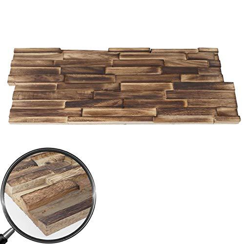 10x Wandverkleidung Holz Wandgestaltung in braun - 3