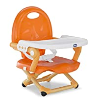 Chicco Pocket Snack Elevador asiento de silla regulable en 3 alturas para bebés, ligero 2 kg, colornaranja (Mandarino)