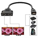 HDMI Splitter Adapter, HDMI Male to 2 HDMI...
