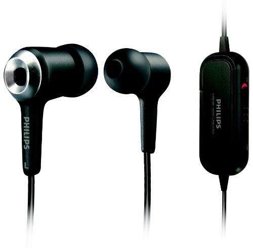 Philips SHN2500 InEar-Nebengeräuschunterdrückungs-Ohrhörer (perfekter, dichter Sitz, 70{df2adacc6a29f3677fc0e9c72a43e707e06a9bf3ad6b863251fafa3355506152}weniger Hintergrund-Geräusche) schwarz