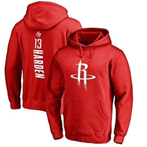 SHOP YJX NBA Rockets Harden Basketball Sweater Hombres Sudadera con Capucha Ropa Deportiva De Manga Larga (Color : Red2, Size : Medium)