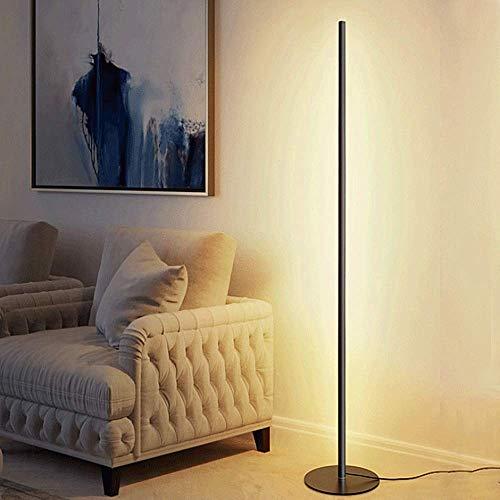 Snowtaros 150cm LED Stehlampe 20W, Stehleuchte mit Fernbedienung 3 Farbtemperaturen und Helligkeit Stufenlos, für Wohnzimmer, Schlafzimmer, Büro (3000-6000Kelvin Dimmbar)