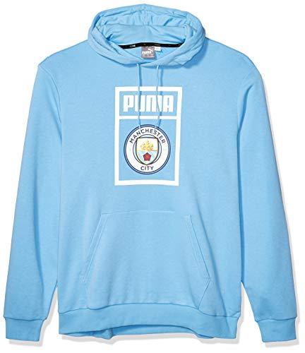 PUMA Mens International Soccer DNA HOODY Manchester City, Team Light Blue/PUMA White, Large
