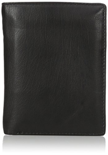Buxton Men's Houston RFID Blocking Deluxe Two-Fold, black, One Size