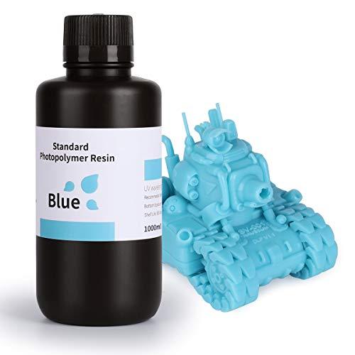 ELEGOO LCD UV 405nm Resina Rapida per Stampante 3D LCD 1000g Resina Fotopolimerica Blu