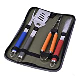 Plantex Stainless Steel Grill Tools Set with Barbecue Accessories - BBQ Utensils Grilling