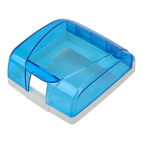 JJZXT Botón de Interruptor Dispositivo de protección Toma de Timbre Dispositivo Impermeable Cubierta Impermeable Caja antisalpicaduras Accesorios para el hogar (Color : Blue)