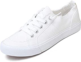 Women's Play Fashion Sneaker White Color Washed and Leopard Canvas Slip on Shoes(White,US011)